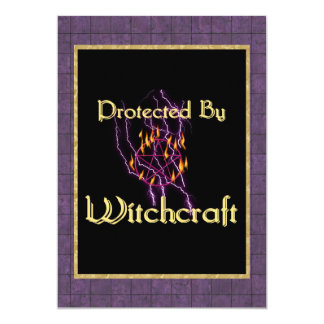 Protected By Witchcraft 13 Cm X 18 Cm Invitation Card