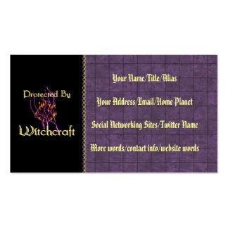 Protected By Witchcraft Double-Sided Standard Business Cards (Pack Of 100)