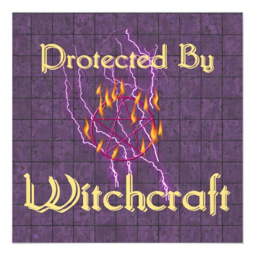 Protected By Witchcraft Personalized Announcement