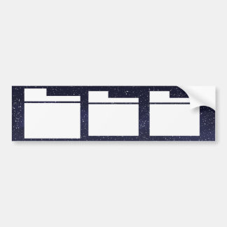 Protected Folders Minimal Bumper Sticker
