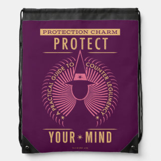 Protection Charm Guidebook Drawstring Bag