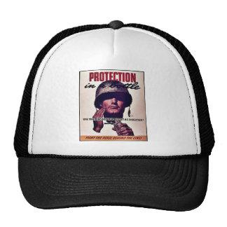Protection In A Battle Trucker Hat