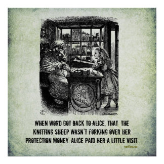Protection Racket Alice (In Wonderland) Art Poster