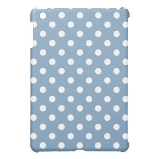 Protective iPad Mini Case - Dusk Blue Polka Dot