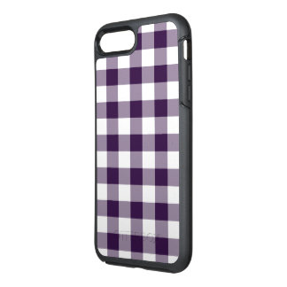 Protective Purple and White Gingham Pattern OtterBox Symmetry iPhone 8 Plus/7 Plus Case