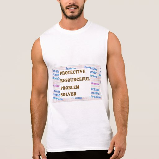 PROTECTIVE RESOURCEFUL  SOLVER lowprice GIFTS Sleeveless T-shirts