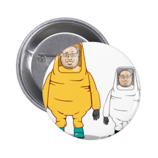Protective Suit Illustration 6 Cm Round Badge