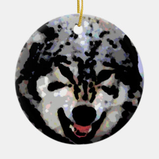 Protective Wolf Oil Christmas Ornament