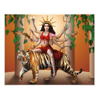 "Protector Goddess Durga Print, 14"" x 11"" Art Photo"