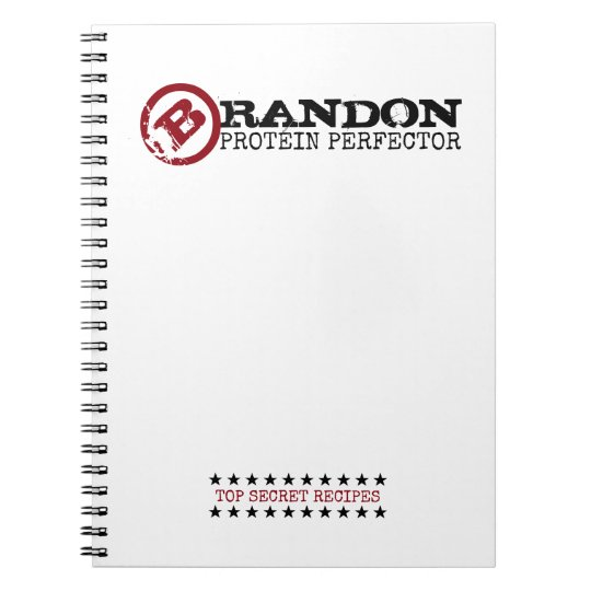 PROTEIN PERFECTOR Funny 'Top Secret' Custom Name Notebook