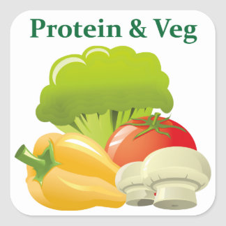 Protein & Veg day sticker