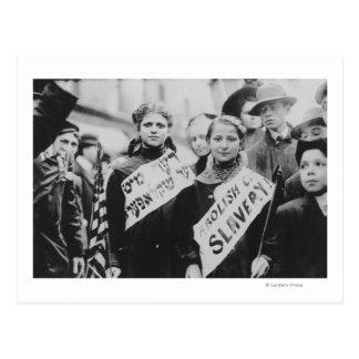 Protest Against Child Labor in Labor Parade Postcard