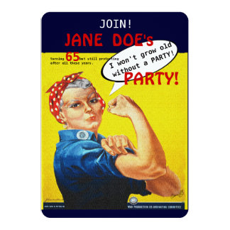Protest Aging Rosie the Riveter Party Invitation! 13 Cm X 18 Cm Invitation Card