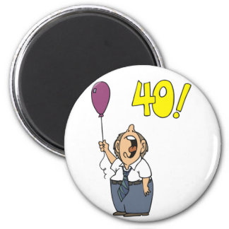 Protest My 40th Birthday Gifts 6 Cm Round Magnet