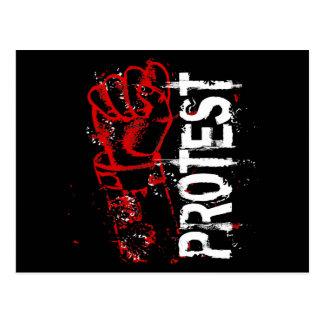 PROTEST POSTCARD