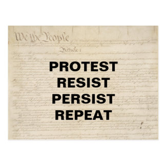 Protest Resist Persist Repeat We the People Postcard