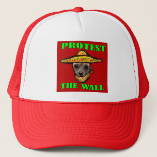 PROTEST THE WALL TRUCKER HAT