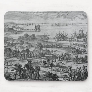 Protestants leaving France Mouse Pads