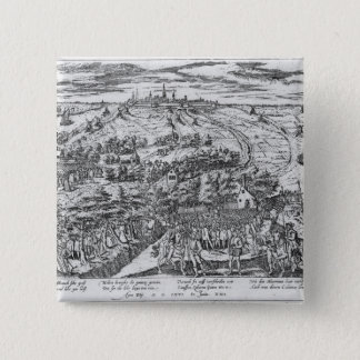Protestants meeting in the open around Antwerp 15 Cm Square Badge