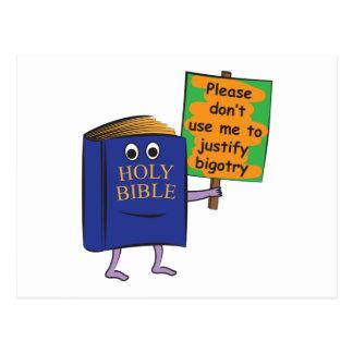 Protesting Bible Postcard
