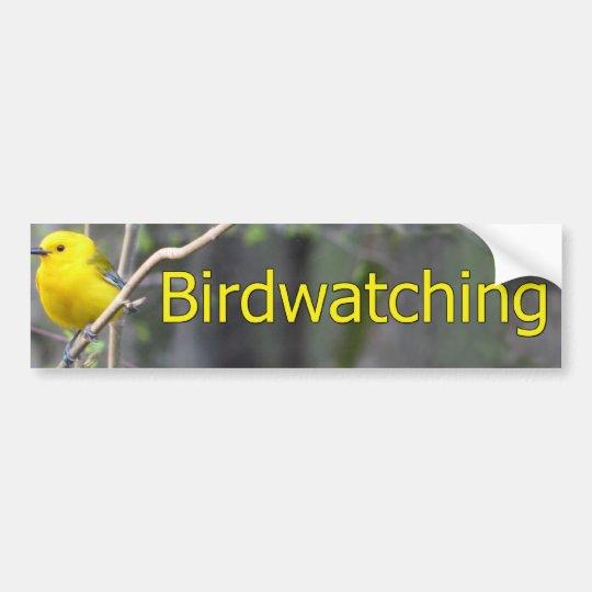 Prothonatary Warbler Logo Bumper Sticker
