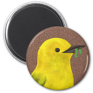 Prothonotary Warblere.3 6 Cm Round Magnet