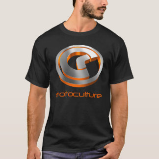 Protoculture (Trance): 3D Metallic Orange (Black) T-Shirt