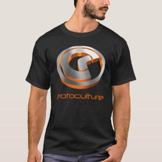 Protoculture (Trance): 3D Metallic Orange (Black) T-Shirt