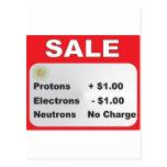 protons electrons neutrons sale postcard