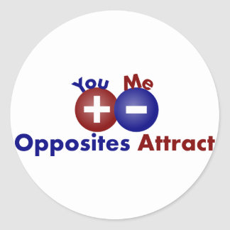 Protons, Electrons, Opposites Attract Stickers