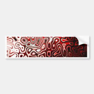 Protoplasm abstract digital design bumper sticker