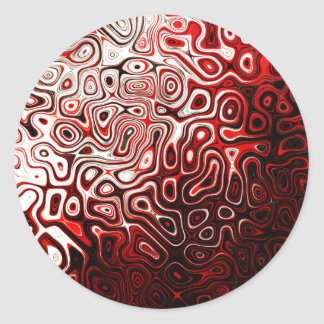Protoplasm abstract digital design classic round sticker