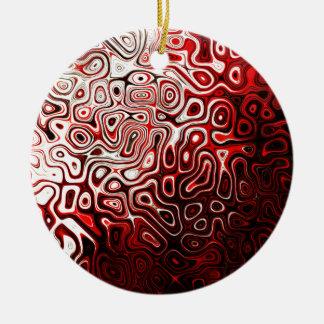Protoplasm abstract digital design round ceramic decoration