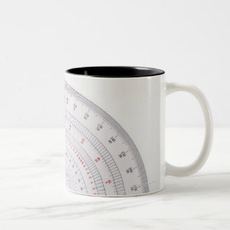 Protractor Two-Tone Coffee Mug