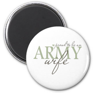 proud2beanarmywife 6 cm round magnet