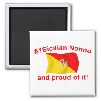 Proud #1 Sicilian Nonno Refrigerator Magnets