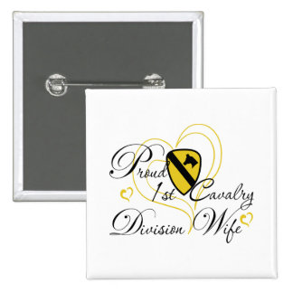 Proud 1st Cavalry Wife Heart Pin