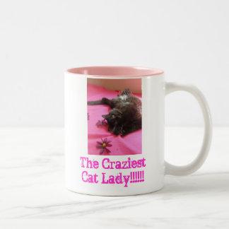 Proud 2 b Cat Lady Two-Tone Mug