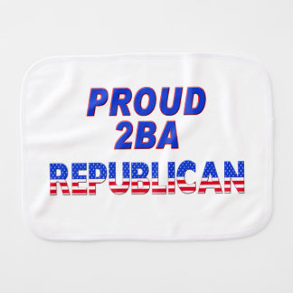 Proud 2BA Republican Stars & Stripes Burp Cloth