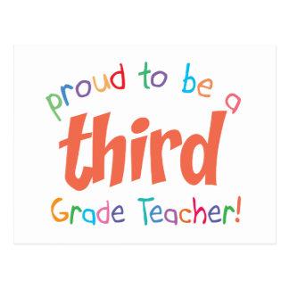 Proud 3rd Grade Teacher Post Cards