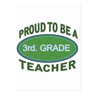 Proud 3rd. Grade Teacher Postcard