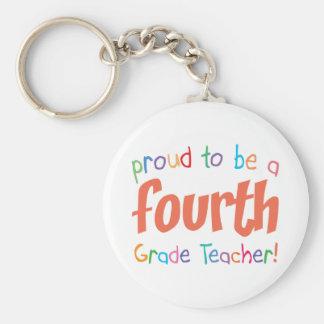 Proud 4th Grade Teacher Keychains