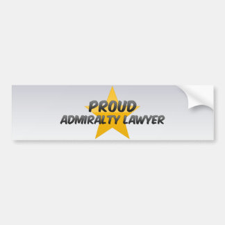 Proud Admiralty Lawyer Bumper Stickers