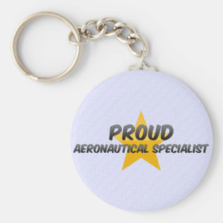 Proud Aeronautical Specialist Basic Round Button Key Ring