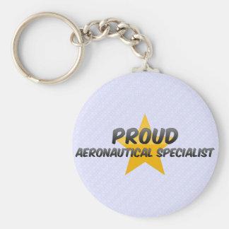 Proud Aeronautical Specialist Basic Round Button Key Ring
