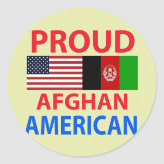 Proud Afghan American Classic Round Sticker