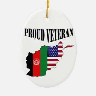 Proud Afghanistan veteran Christmas Ornament