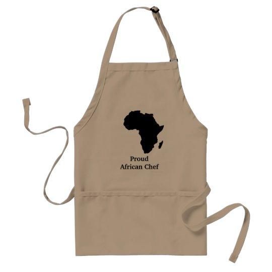 """Proud African Chef"" Africa in Sleek Black Standard"