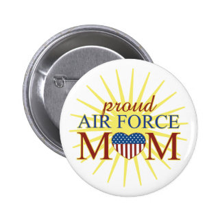 Proud Air Force Mom 6 Cm Round Badge