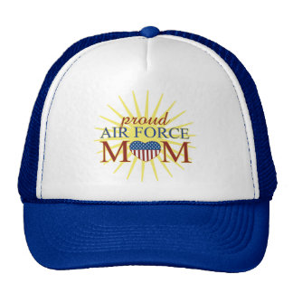 Proud Air Force Mom Mesh Hats